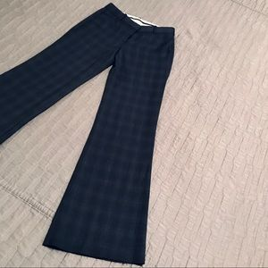 Theory Wool Stretch Plaid Pant Size 0